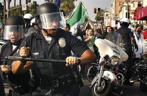 Luckily the LAPD excels in crowd control.