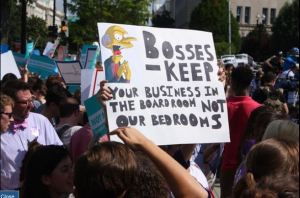 Mr Burns Hobby Lobby protest sign